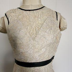 Hayden Dresses - Hayden metalic lace  & faux leather trim